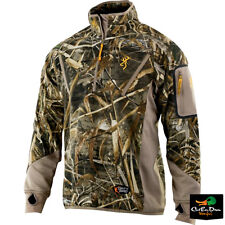 BROWNING DIRTY BIRD SMOOTHBORE FLEECE 1/4 ZIP PULLOVER COAT MAX-5 CAMO 2XL
