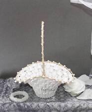 4 Mini Streukörbchen Blumenkinder weiß Hochzeit Blumen streuen Körbchen Korb