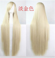 Straight 18  Colors Party Fashion Sexy Cosplay Wig Full Hair Long Wig 100CM/39""
