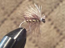 Elk Hair Caddis - Yellow / Tan Trout Fly Size 12 - 1 Dozen (12) Dry Flies F737