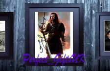 MEL GIBSON BRAVEHEART FRAMED & MOUNTED SIGNED 10x8 REPRO PHOTO PRINT