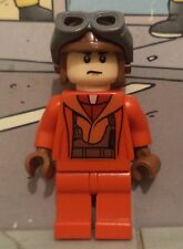 Star Wars lego minifigure NABOO STARFIGHTER PILOT 9674 red army uniform jumpsuit
