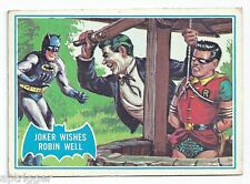 1966 Topps Batman Blue Bat with Bat Cowl Back (15B) The Joker Wishes Robin Well