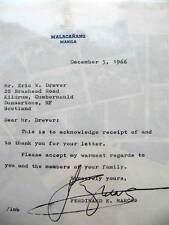 FERDINAND MARCOS - SIGNED LETTER - President of the Philippines