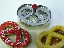 Pretzel Shaped Cookie / Biscuit Plunger Cutter by Silicone Bakeware
