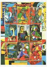 """Pablo Picasso Genius artista 5.5 """"x 7.5"""" Somalia 2002 Mnh Sello sheetlet"""