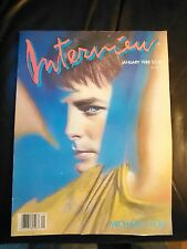 Andy Warhol's Interview Magazine - January 1988 Michael Fox cover