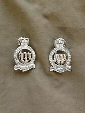 Original Genuine British Army Northumberland Hussars Anodised Collar Dogs