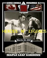 1A* GEORGE CHUVALO MUHAMMAD ALI MARCH,29 1966 PHOTO MAPLE LEAF GARDENS RED SEAT