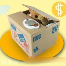 Hot Cat Stealing Coin Bank Saver Box Piggy Bank Cent Penny Saving Case Holder X1