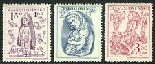 Czechoslovakia B163-B165, MI 559-561, MNH. Child welfare. Toys, 1948