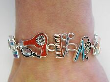 Hair Dresser Beauty Salon Stylist Charm Bracelet With Magnetic Clasp # 3449 New