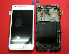 DISPLAY LCD +TOUCH SCREEN per SAMSUNG GALAXY S2 GT i9100 +FRAME COVER BIANCO