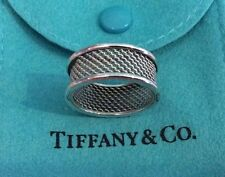 Tiffany & Co. Double Band Ring Size 8 Sterling Silver 925 Mesh Men's Unisex