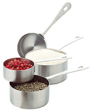 Amco Stainless Steel Professional Measuring Cups (Set of 4)