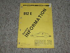 1976 Porsche 912E 912 E Shop Service Repair Workshop Manual 2.0L Coupe