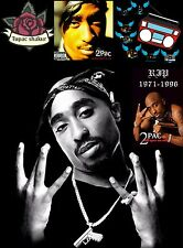 "Tupac Shakur 2Pac Hip Hop R&B Music Star Silk Cloth Poster 17 x13"" Decor 09"