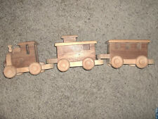 Wood train set 3 pcs