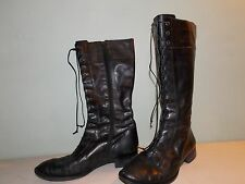 2000's Black Leather Riding Boots Est. Size 8 - 8 1/2 by Via Spiga FREE Shipping