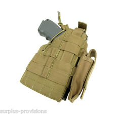 Condor - Tactical Ambidextrous Glock Pistol Holster & Mag pouch - Tan #H-GLOCK