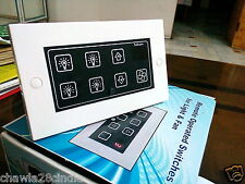 Remote control Switch 4 Lights 1 Fan (Hum free) with touch for ALL IR remotes