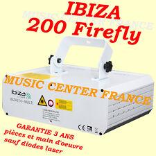 Ibiza 200 Firefly DMX laser bleu rouge vert multipoint - NEUF et GARANTIE 3 ANS