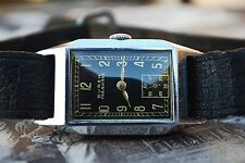 BUREN FAB. SUISSE CALIBRE 14 VINTAGE ART DECO GENTS WATCH c1950-RARE PIECE
