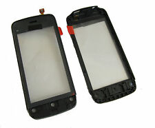 NOKIA C5-03 C5 03 Touch Screen Digitizer PAD Pannello frontale Vetro + Cornice Nero UK