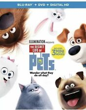 THE SECRET LIFE OF PETS BLU-RAY DVD DIGITAL HD WITH SLIPCOVER NEW FAST FREE SHIP