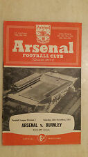 1955/56 League Division One: ARSENAL v BURNLEY