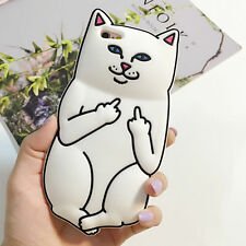 Hot3D Cute Middle Finger Pocket Cat Silicone Case Cover For Variety Mobile Phone