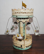 ANTIQUE EARLY GERMAN BING TIN WIND UP CAROUSEL TOY CLOCKWORK