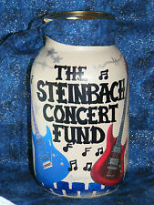 """""""MY ROCK CONCERT/MUSIC MONEY JAR"""" /BANK/HANDMADE& personalized  w/slotted lid"""