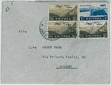 COLONIE ITALIANE - ERITREA: BUSTA POSTA AEREA 1938 #5