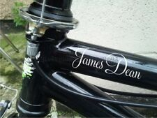 Personalised Name BMX Pedal Bike Cycle Push Bike Stickers Decals X2