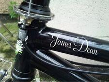 Personalizzato Nome BMX Pedal Bicicletta Bici Flessioni Adesivi Decalcomanie X2