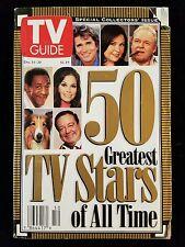 TV Guide Magazine Back Issue December 14-20 1996 50 greatest TV stars
