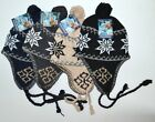 Unisex Beanie Hat Knit Ski Snow Earflap Pattern Cap Warm Trapper Winter Mens