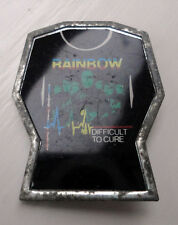 Rainbow Vintage pin badge circ 1980's Ritchie Blackmore Difficult to Cure