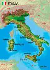 3D Italy, Detail map of -  Lenticular Postcard Greeting Card - 0218