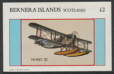 GB Locals - Bernera 2808 - 1982 AIRCRAFT - SEAPLANE £2 deluxe sheet  u/m