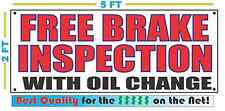 FREE BRAKE INSPECTION w/ OIL CHANGE Banner Sign Best Quality of the $$$