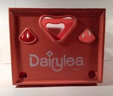 Orange Dairylea Heavy Crate Plastic 1972 Vintage Dairy Milk Bottle Carrier