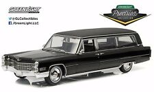 1:18 GreenLight PRECISION MINIATURES BLACK 1966 Cadillac LIMOUSINE *NIB*