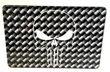 PUNISHER SKULL, CARBON FIBER PATTERN, Billet Aluminum Hitch Cover, 4x6 USA