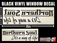 Northern Soul Sticker Decal Reverse Window Sticker 300mm x 90 mm VW Camper ws5