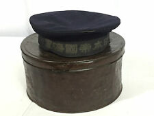 Original WWII Japanese Navy Enlisted Hat With Metal Hat Box