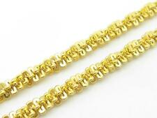 """14k Yellow Gold Cable Spiral Staircase Design 16"""" Chain Lobster Lock 11.5 Grams"""