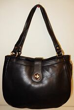 New Isaac Mizrahi Live! Bridgehampton Lamb Leather Hobo Bag Black