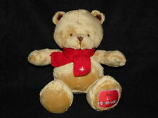 MOTHERCARE TEDDY BEAR SOFT TOY MY 1ST CHRISTMAS BEIGE BROWN COMFORTER DOUDOU